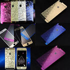 3D Diamond Color Tempered Glass Front +Back Screen Protector 9H For Cell Phone