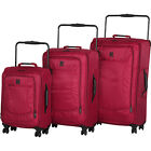 IT Luggage World's Lightest 8 Wheel Spinner 3 Piece Set Luggage Set NEW