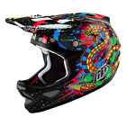 2016 Troy Lee Designs D3 Carbon Blacklight Helmet Black BMX Mountain 13609220