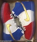 Nike SB Dunk High Trico France Red White Blue Gold 313171-674 Men's 7.5-13