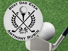 Best Dad Golf Ball Marker Gift, Great for Fathers Day! Personalized FREE