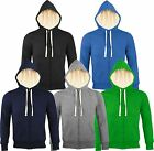 Mens Sherpa Lined Thermal Hoodie Hooded Jumper with Front Zip - Bargain Buy