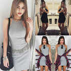 Fashion Women Bodycon Sleeveless Evening Sexy Party Cocktail Club New Mini Dress