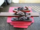 LOT OF 3 OLD WOOD PLANES BAILEY, UNION 30'' LONG