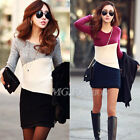 New Long Sleeve Women Ladies Winter Knitted Jumper Sweater Tops Pullover Dress