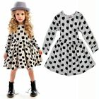 Fashion Toddler Baby Girls Kids Clothes Long Sleeve Party Cat Pleated Tutu Dress