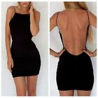 Sexy Women Backless Bodycon Mini Short Dress Cocktail Party Evening Night Club T