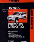 1990 Toyota 4Runner Factory Service Repair Manual Chassis Body Electrical Vol. 2