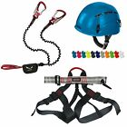 Climbing Helmet + Universal harness + Salewa Via ferrata set Premium Attac