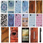 For ZTE Warp Elite Z9518 PATTERN HARD Protector Case Phone Cover + Pen