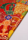 "28"" TIBETAN SILK DAMASK JACQUARD BROCADE FABRIC : 8 TREASURES DORJE CROSS"