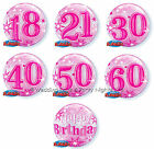 Stretchy Plastic Pink Bubble Helium Balloon 18th-60th Birthday Party Decoration