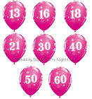 20 Fuchsia Hot Pink Helium / Air Balloons Happy Birthday Party Decorations 11""