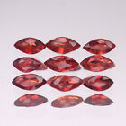 4x2mm. Lot 1,2,5,10pcs Marquise Cut Calibrated Natural Orange Red SAPPHIRE