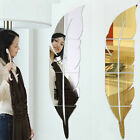 3D Mirror Effect Wall Sticker Fashion Feather Acrylic Home Room Decor Removable