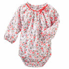 Oshkosh B'gosh 18 24 Months Floral Poplin Long Sleeve Bodysuit Baby Girl Clothes