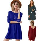 Women Party Evening Cocktail Casual Mini Shirt Dress Ladies Tunic Shift Dress