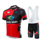 Refreshing Short Sleeved Cycling jerseys Bicycle bib short pants Jersey sets