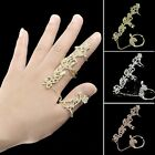 Women Fashion Jewelry Rings Multiple Finger Stack Knuckle Band Crystal Set B20E