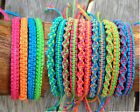 Handmade Neon Bamboo Bracelet/Anklet - Square or Twist Knot Pattern