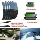 100W/200W/400W Mono Semi-Flexible Solar Panel W/ 15A/45A Controller for 12V Boat
