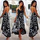 Women Sleeveless Strappy Summer Beach Cocktail Long Maxi Dress Sundress B20E