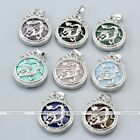 Mens Womens Silver Dragon Natural Quartz Gemstone Pendant For Necklace Chain DIY