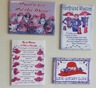 Red Hat Theme Magnets w Sayings / Great Gift / NEW