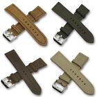 Suede Genuine Leather Watch Strap Band Steel Buckle Free Bars 20mm 22mm 24mm