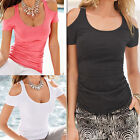 New Women Short Sleeve Sexy T Shirt Blouse Ladies Summer Off Shoulder Casual Top