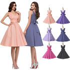 SUMMER Plus Size Vintage Retro 1950s 60s Housewife Pin up Girls Evening Dress