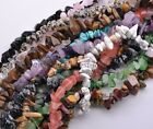 "Natural 7-15mm Freeform Chips Jewelry Making Loose Gemstone Beads Strand 30""-34"""