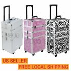 3 in 1 Cosmetic Train Case Makeup Organizer Jewellery Storage Box Mobile Trolley