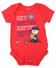 MLB Infants Chicago Cubs Peanuts Love Baseball Creeper, Red