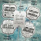 Personalised White Wedding Sparkler Tags Let Love Sparkle Sparklers Tag