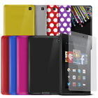 "Gel Case Skin For Kindle Fire HD 6 6"" Tablet + Screen Protector"