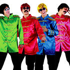 Sgt Pepper Jacket Adults Fancy Dress 60s Beatles Band Mens Costume Accessories
