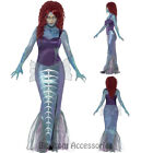 CL896 Zombie Mermaid Horror Ariel Gothic Womens Halloween Fancy Dress Up Costume