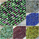 2x3mm Natural Gemstone Rondelle Hand Cut Faceted Loose Small Beads 15.5""