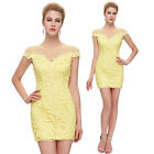 Sexy Womens Summer LACE Party Evening Clubwear Cocktail Bodycon Short Mini Dress