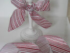 GLITTERY CANDY CANE Red & White Christmas Cake - Luxury Wire Edged Ribbon