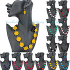 Fashion Women Wedding Party Crystal Pendant Necklace Chain Earrings Jewelry Set