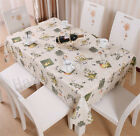 Waterproof and Oil Proof Polyester Table Cloth Table Mats Pastoral Cloth