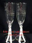 """COORDINATED   """"JUST""""  Toasting Glasses to Match any of OUR Wedding Cake Toppers"""