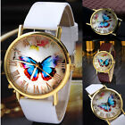 Fashion Women Casual Butterfly Watches Leather Analog Quartz Dress Wrist Watch