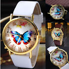 Fashion Women Casual Butterfly Watches Leather Analog Quartz Dress Wrist Watch image