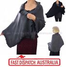 Ladies Winter Evening Fashion Knit Stole Cape Shawl Wrap Long Big Scarf Ruffled