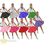 SHORT POLKA DOT SKIRT FANCY DRESS ROCK N ROLL COSTUME 1960S STANDARD + PLUS SIZE