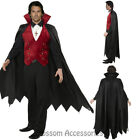 CL902 Fever Mens Count Dracula Vamp Vampire Costume Halloween Fancy Dress Gothic