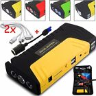 58800Mah 2USB 12V Car Jump Starter Power Bank Charger Booster Battery 3LED Auto